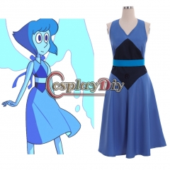 Cosplaydiy Steven Universe Lapis Cosplay Costume Women Girl Blue Dress Sexy Dresses Party Halloween Skirt Custom Made
