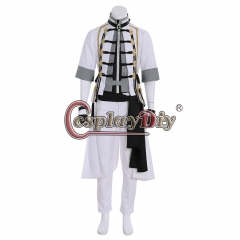 Cosplaydiy Final Fantasy 14 FF14 Girls Day Cosplay Men White Suits Costume with Hat Adult Halloween Party Outfit Custom Made