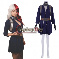 Anime My Hero Academia Shoto Todoroki Cosplay Costume Boku no Hero Akademia female version custom made