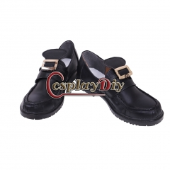 Cosplaydiy Custom Made Medieval Mens Tudor Cosplay Shoes Priate Musketeer Shoes with Buckles Georgian Masked Ball Shoes