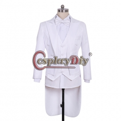 Prince Cosplay Costume Blazer Jacket Men's Rococo Medieval 18th Century white Jacket