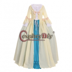 Cosplaydiy Women Rococo Ball Gown Dress 18th British England Rococo Marie Antoinette Princess Queen Party Dress Gown