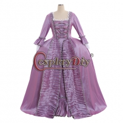 Cosplaydiy Marie Antoinette Baroque Ball Gown Dress 18th Century Colonial Purple Rococo Belle Dress Custom Made