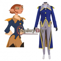 Cosplaydiy Custom Made Treasure Planet Captain Amelia Cosplay Costume Adult Women Captain Suit