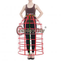Cosplaydiy Lady's Medieval Crinoline Victorian Dress Underskirt Retro Bustle Dome Cage Skirt Hoop Petticoat
