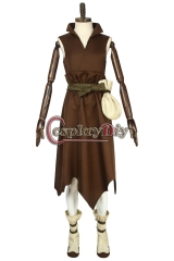 Cosplaydiy Custom Made Anime Dr. Stone Costume Taiju Oki Brown Outfit Costume Halloween Suit