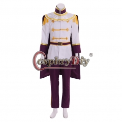 Cosplaydiy New Cinderella Prince Charming Cosplay Costume Outfit Suit Adult Mens Fancy Party Halloween Costume