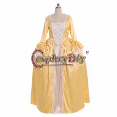 Cosplaydiy 18th Century Marie Antoinette Rococo Ball Gown Dress England Court Party Carnival Yellow Dress Girls Women Dress