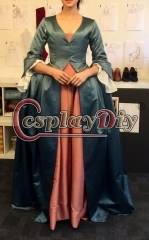 Cosplaydiy Outlander Claire Randall cosplay costume dress