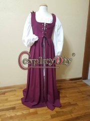 Cosplaydiy Scottish Irish dress Chemise Celtic Renaissance Irish Dress cosplay Costume custom made