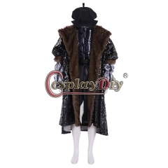Cosplaydiy Tudor King Henry VIII Costume With Hat Adult Mens Medieval Renaissance Anne Boleyn Costume