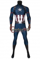 Cosplaydiy Avengers Endgame Captain America Costume Steven Rogers Cosplay Adult Halloween Christmas Carnival Party Jumpsuit