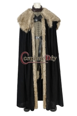 (With shoes) Game Of Thrones 8 Jon Snow Costume Cosplay Adult A Song Of Ice And Fire Halloween Christmas Carnival Party Fancy Suit