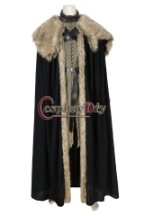 (Without shoes) Game Of Thrones 8 Jon Snow Costume Cosplay Adult A Song Of Ice And Fire Halloween Christmas Carnival Party Fancy Suit