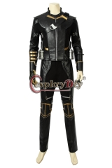 (without shoes) Avengers Endgame Clinton Barton Hawkeye Cosplay Costume Hawkeye Black Suit Halloween Party Custom Made