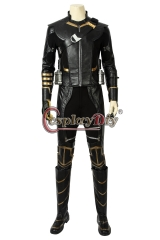(with shoes) Avengers Endgame Clinton Barton Hawkeye Cosplay Costume Hawkeye Black Suit Halloween Party Custom Made