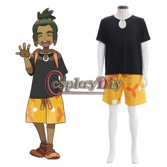 Cosplaydiy Pokemon Sun And Moon Hau Cosplay Costume Outfits Full Outfits Halloween Party Custom Made