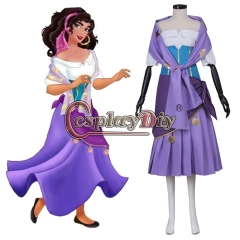 Cosplaydiy The Hunchback of Notre Dame Esmeralda Costume Dress Adult Women's Halloween Carnival Cosplay Costume