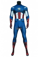 Cosplaydiy The Avengers Captain America Steven Rogers Cosplay Jumpsuit Zentai Superhero Adult Men Halloween Carnival Outfit Suit