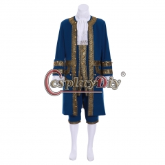 Cosplaydiy British Mens Maria Gentleman Cosplay Costume Adult 18th Century French Victorian Fancy Suit