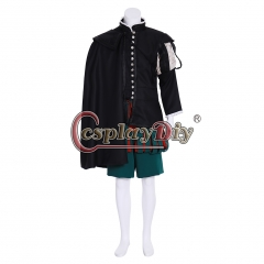 Cosplaydiy Queen Elizabeth Tudor Period Medieval Renaissance Men's outfit cosplay costume breeches suit costume