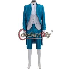 Cosplaydiy Custom Made 18th Century Colonial Rococo Marie Antoinette Baroque Mens Suit