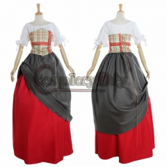Cosplaydiy Woman's European Retro Clothing Renaissance Medieval Victorian Long Gothic Evening Dress