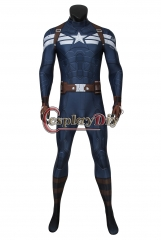 Cosplaydiy Captain America: The Winter Soldier Captain America Steve Rogers Zentai Jumpsuit Adult Men Halloween Outfit