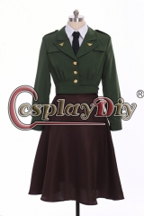 Cosplaydiy Avengers Captain America Agent Peggy Carter Cosplay Costume Uniform Agent Carter suit custom made