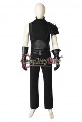 (Without Shoes) Final Fantasy VII Remake Cloud Strife Cosplay Costume Men Black Outfit