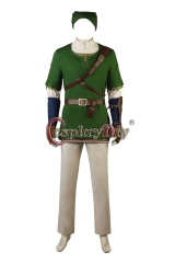 (Without Shoes) The Legend of ZeldaTwilight Princess Link Cosplay Costume Game Outfit Halloween Suit Party Carnival Adult Cosplay Custom Made
