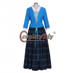 Cosplaydiy Scottish Highland dress outlander cosplay costume dress custom made