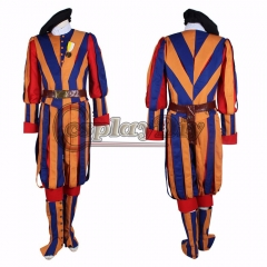 Cosplaydiy Halloween Carnival Costume For Adult Unisex Switzerland Soldiers Cosplay Costume Papal Swiss Guard Uniform