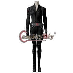 (With Shoes) Movie Black Widow Cosplay Natasha Romanoff Costume Leather Jumpsuit Black Suit Women Halloween Carnival Outfit Custom Made