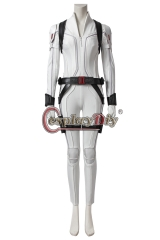 (Without Shoes) Movie Black Widow Cosplay Black Widow Natasha Romanoff Costume White Jumpsuit Halloween Women Outfit Custom Made