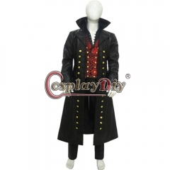 Cosplaydiy Once Upon a Time Killian Jones Captain Hook Cosplay Costume Pirate Hook outfit Cosplay Halloween cosplay Custom Made