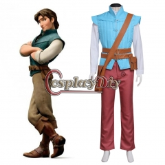 Cosplaydiy Tangled Rapunzel Prince Flynn Rider Cosplay Costume Suit Adult Men Halloween Party Outfit Cosplay Costume Custom Made