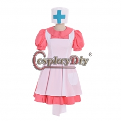 Cosplaydiy Pokemon Pocket Monsters Nurse Joy Cosplay Costume Full Set Anime Halloween Dress Uniform Custom made