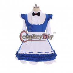 Cosplaydiy Anime Final Fantasy XIV FF14 Miqo'te Cosplay Costume Halloween Christmas Carnival Dress Maid Servant Uniform Dress Custom made