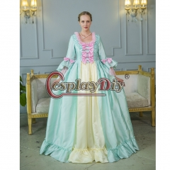Cosplaydiy Marie Antoinette Ball Gown Dress Rococo Colonial Georgian Dress Women Wedding Dress