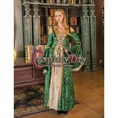Cosplaydiy Women's Medieval Renaissance Palace Dress Evening Party Gown Fancy Dress Retro Costome
