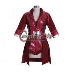 Cosplaydiy Captain America:Civil War Scarlet Witch Costume Avengers Wanda Maximoff red jacket custom made