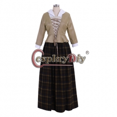 Cosplaydiy Outlander Scottish Cosplay Costume Adult Women Medieval Victorian Dress Custom Made