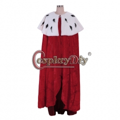 Cosplaydiy Musical Hamilton King George Washington Cosplay Costume Halloween King Queen Cape