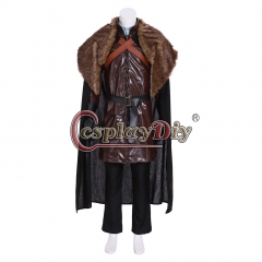 Cosplaydiy Game of Thrones Cosplay Jon Snow Costume Night Watch the King of North Cosplay Costume For Halloween Christmas Party