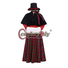 Cosplaydiy Movie A Christmas Carol Cosplay Costume Adult Womens Dress Christmas Costumes Custom made