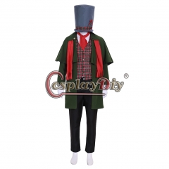Cosplaydiy Movie A Christmas Carol Cosplay Costume Adult Mens Christmas Costume Carol Yuletide Suit Custom made