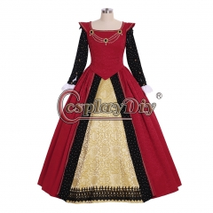 Cosplaydiy Victorian Queen Elizabeth Tudor Period Gothic Faire Dress Medieval Princess Red Fancy Dress Custom Made