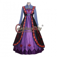 Cosplaydiy snow queen anna mother queen iduna cosplay dress custom made